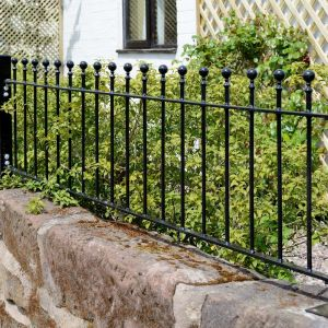 Picture of Wenlock 'Ball Top' Low Metal Railings Panel