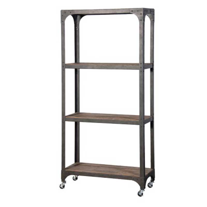 botanico 3 tier industrial style shelving unit on wheels. Black Bedroom Furniture Sets. Home Design Ideas