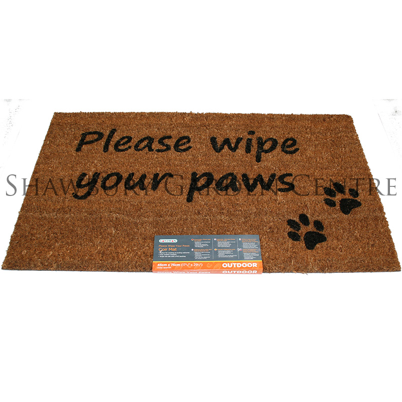 Picture of Gardman 'Please Wipe Your Paws' Coir Door Mat