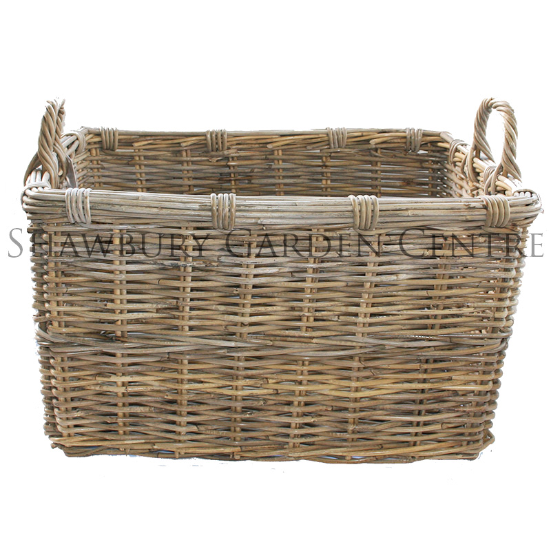 Picture of Rectangular Log Basket with Handles