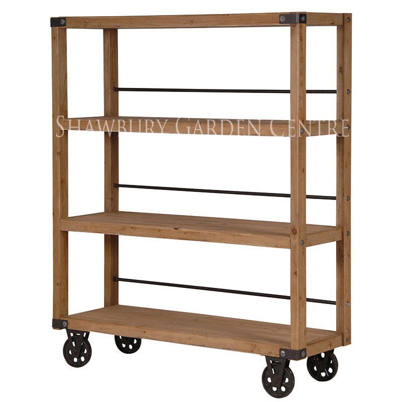 Picture of Industrial Style Shelving Unit on Wheels