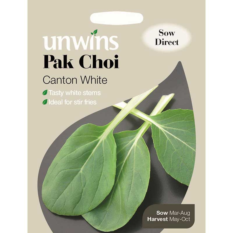 Picture of Unwins 'Canton White' Pak Choi Seeds