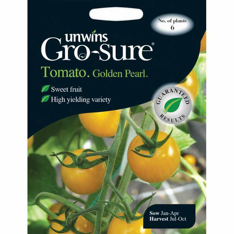 Picture of Unwins Gro-Sure® Golden Pearl F1 Tomato Seeds