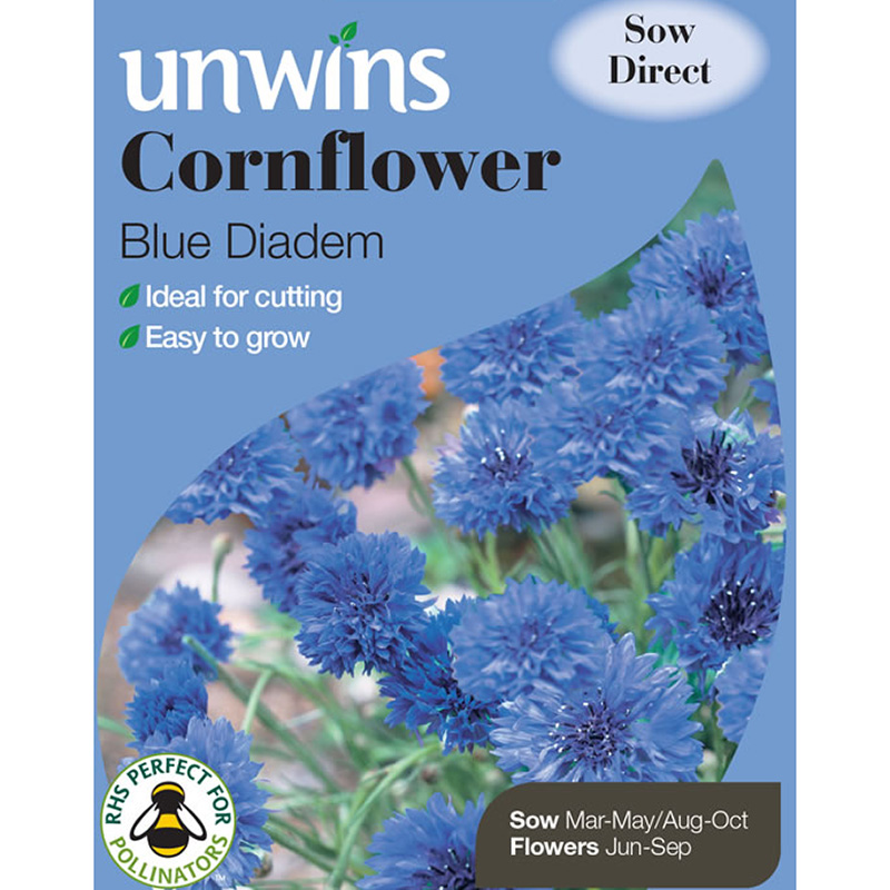 Picture of Unwins Cornflower 'Blue Didem' Seeds