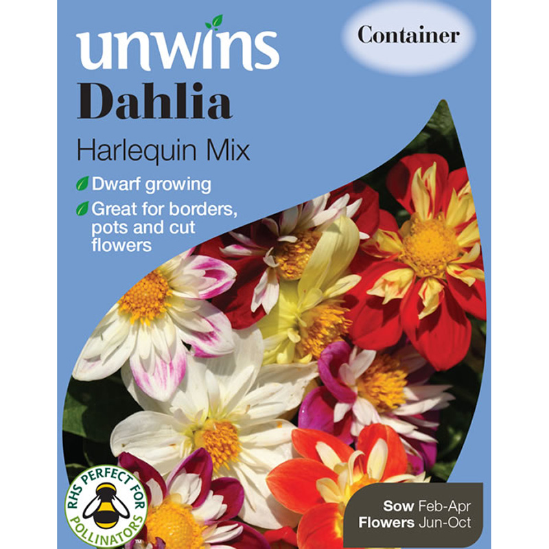 Picture of Unwins Dahlia 'Harlequin Mix' Seeds