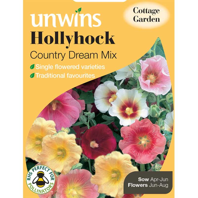 Picture of Unwins Hollyhock 'Country Dream Mix' Seeds