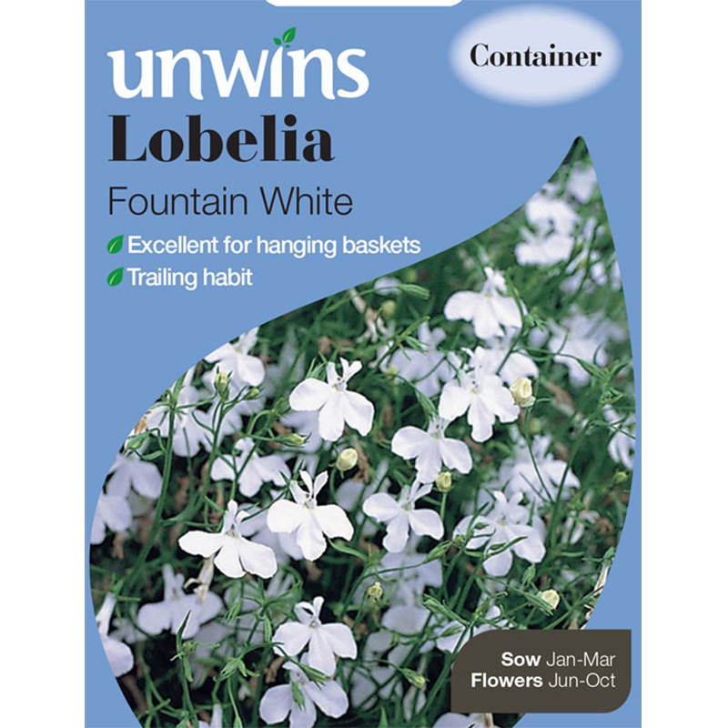 Picture of Unwins Lobelia 'Fountain White' Seeds