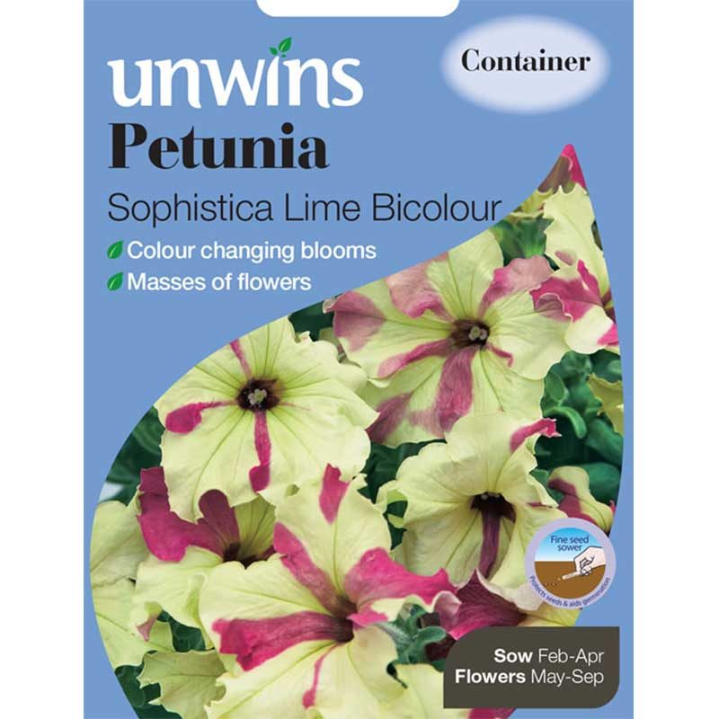 Picture of Unwins Petunia 'Sophisticata Lime Mix' Flower Seeds