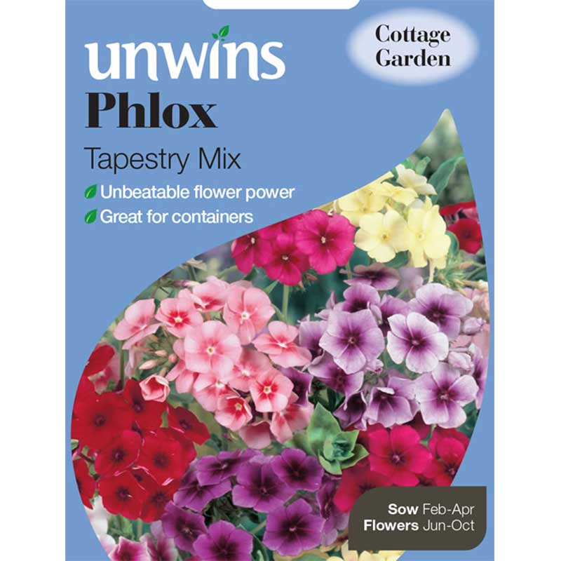 Picture of Unwins Phlox 'Tapestry Mix' Flower Seeds