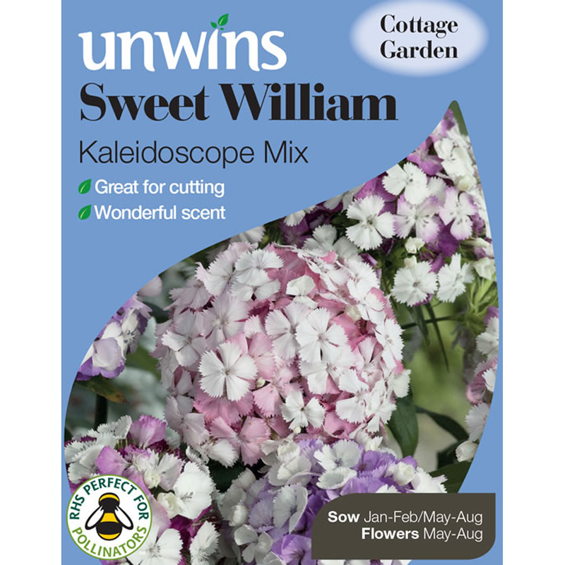 Picture of Unwins 'Kaleidoscope Mix' Sweet William Seeds