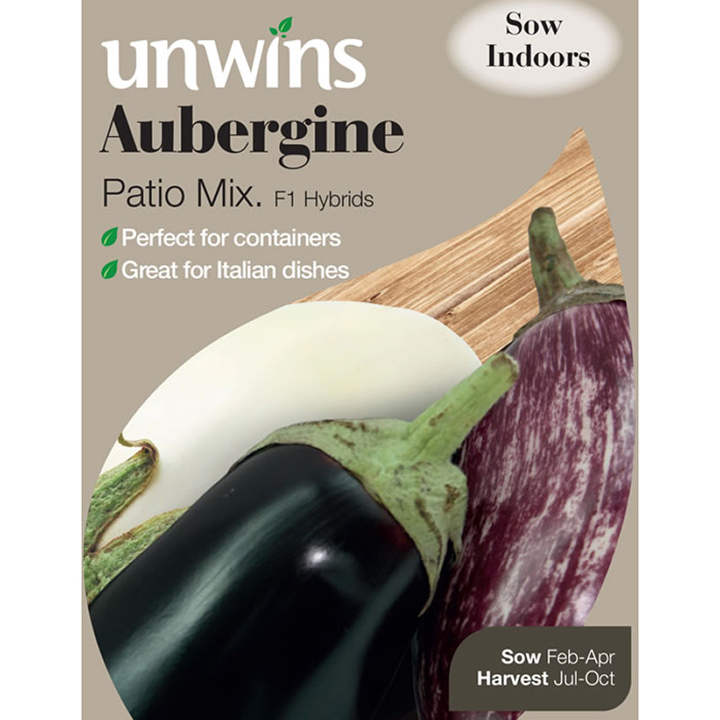Picture of Unwins 'Patio Mix' Aubergine Seeds