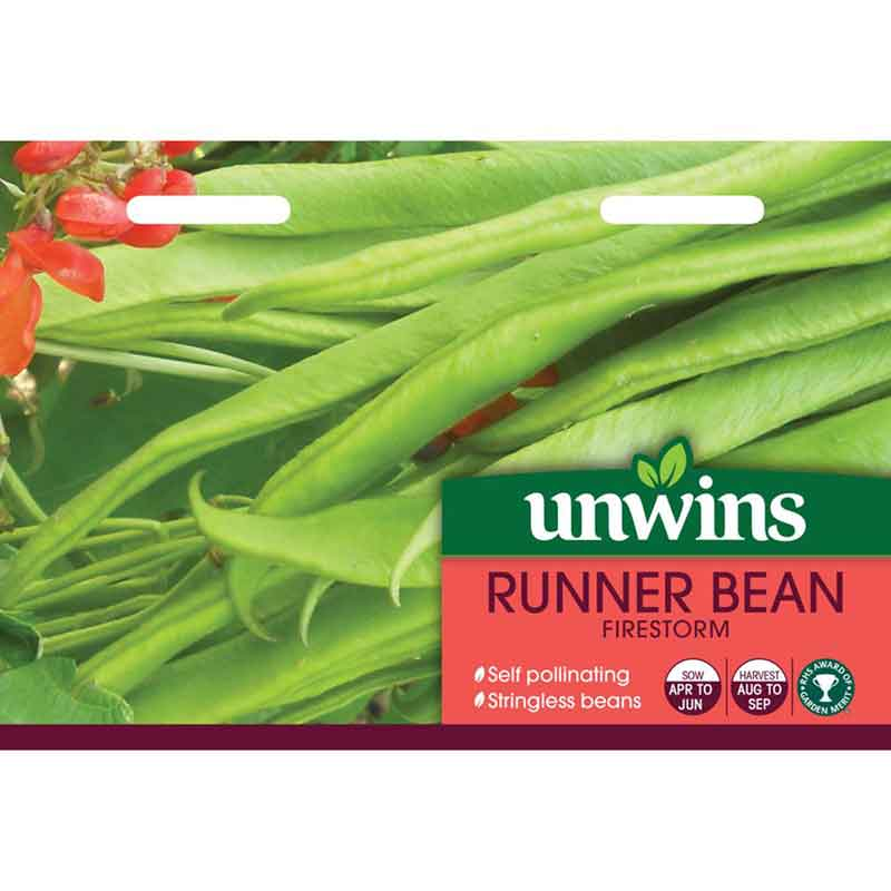 Picture of Unwins Firestorm Runner Bean Seeds