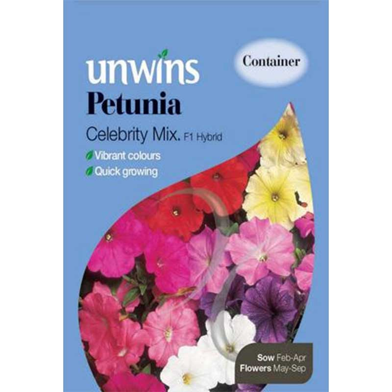 Picture of Unwins PETUNIA 'Celebrity Mix' Seeds