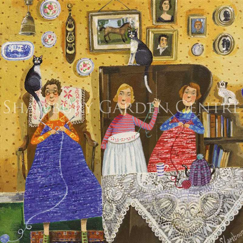 Picture of Green Pebble 'The Crafty Ladies' by Stephanie Lambourne