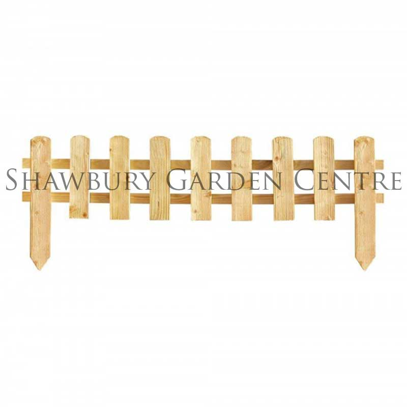 Picture of Grange Pine Picket Fence Garden Edging Panel
