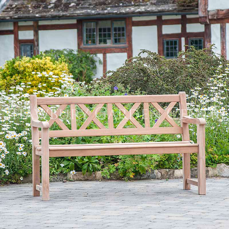 Picture Of Alexander Rose Mahogany Drachmann Garden Bench