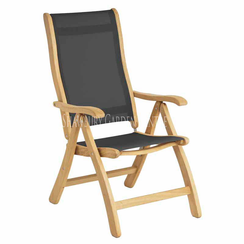 Picture of Alexander Rose Roble Recliner Chair with Charcoal Sling