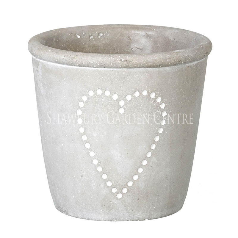 Parlane concrete heart planter pot for Design indoor plant pots uk