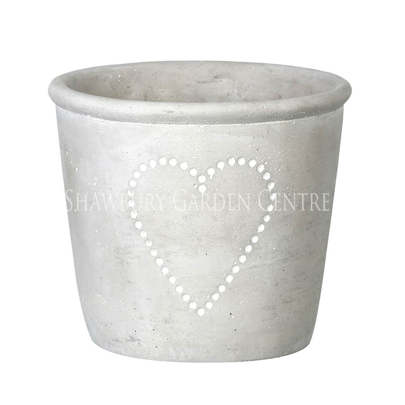 Picture of Parlane Concrete Heart Planter Pot: Large
