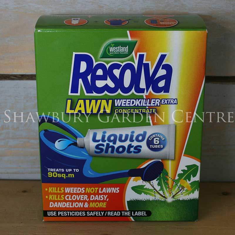 Picture of Westland Resolva Lawn Weedkiller Extra Liquid Shots