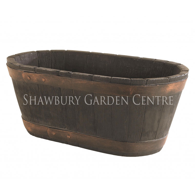 Picture of Strata Oakwood Barrel Trough Planter