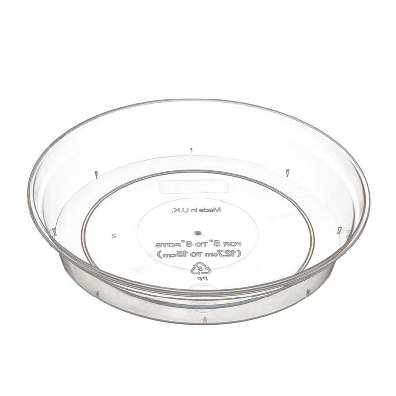 Picture of Stewart Garden Clear Orchid Pot Saucer