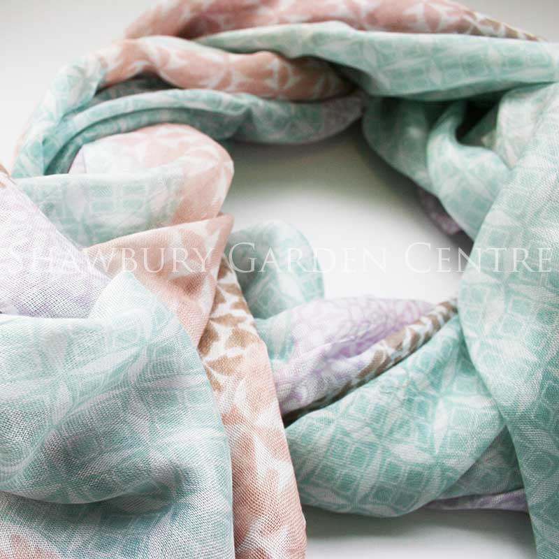Picture of Pastels Patchwork Effect Print Scarf