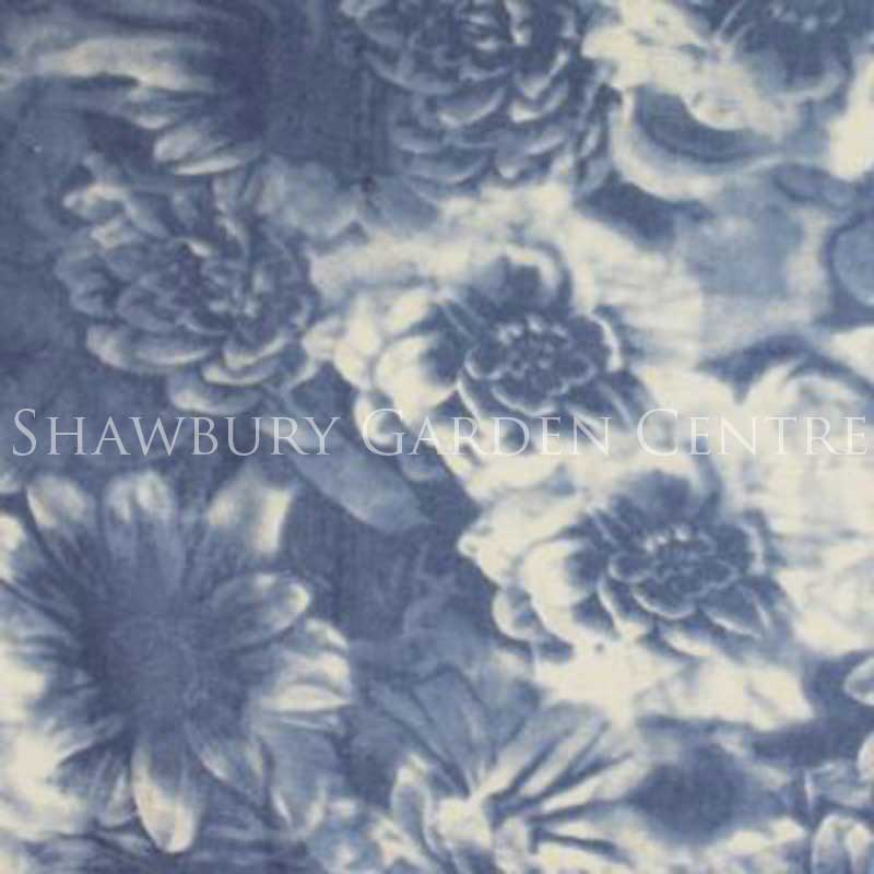 Picture of Blue Soft Focus Floral Pattern Scarf