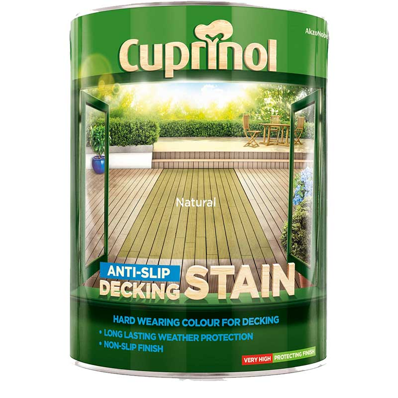 Cuprinol anti slip decking stain for Garden decking non slip