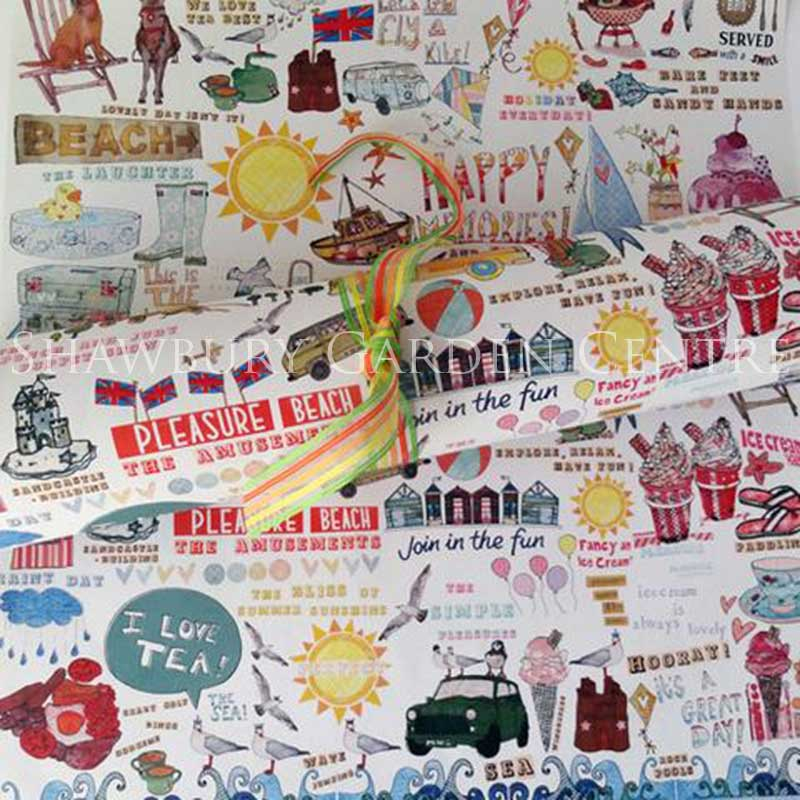 Picture of Summer Holidays Gift Wrapping Paper