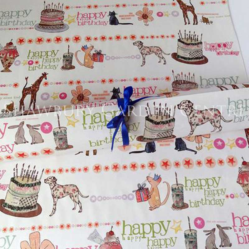 Picture of 'Happy Birthday' Gift Wrapping Paper
