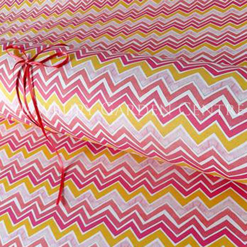 Picture of Pink Zig Zag Gift Wrapping Paper