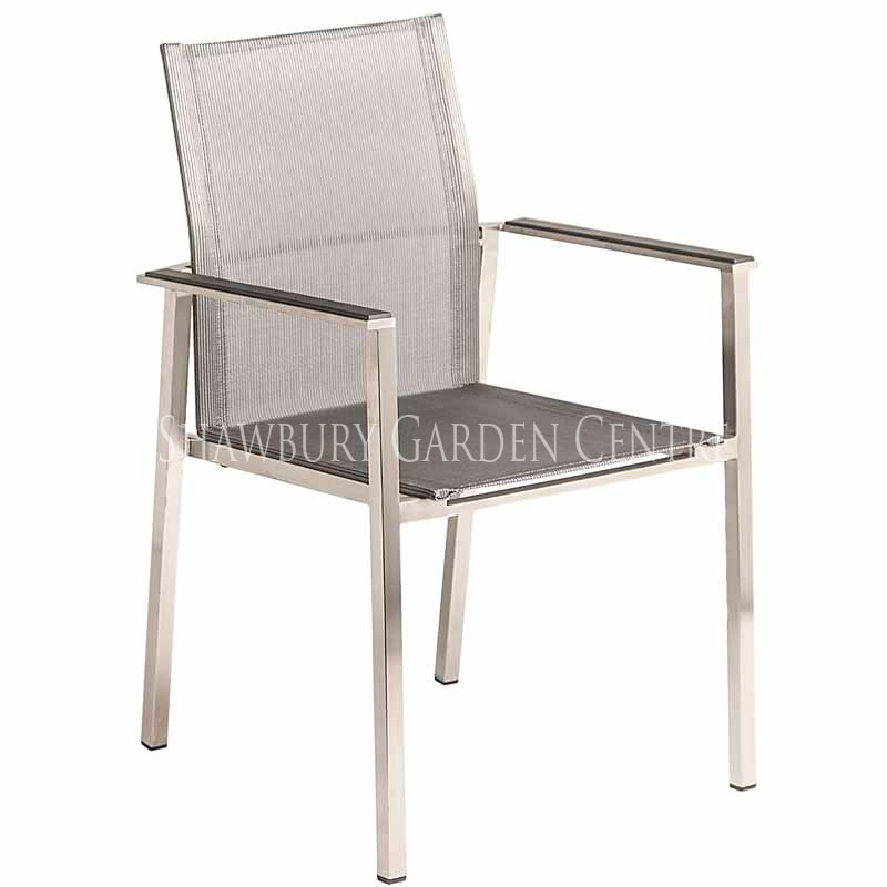 Picture of Alexander Rose Cologne Stacking Armchair with Graphite Sling