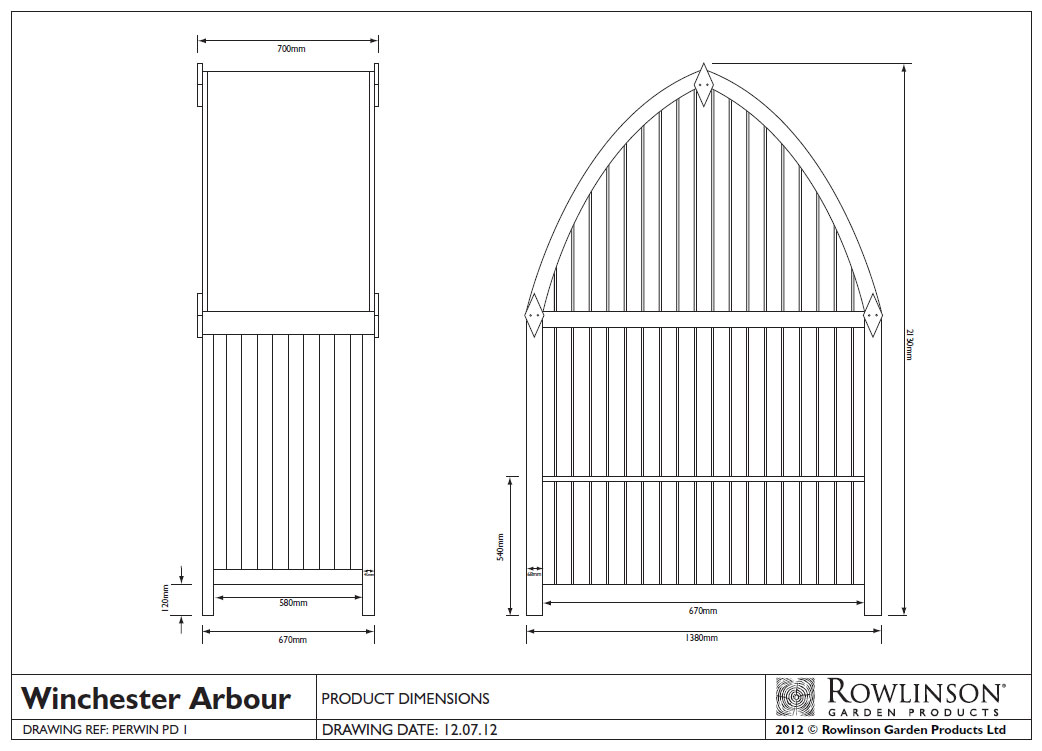 Picture of Rowlinson Winchester Arbour