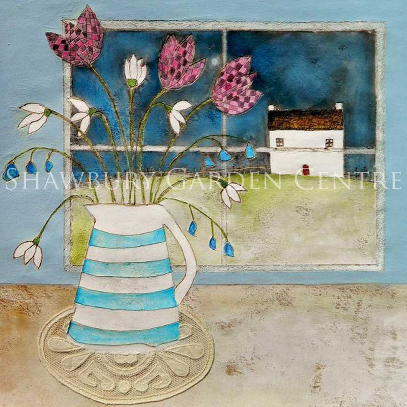 Picture of Green Pebble 'A Full Moon' Card by Louise O'Hara