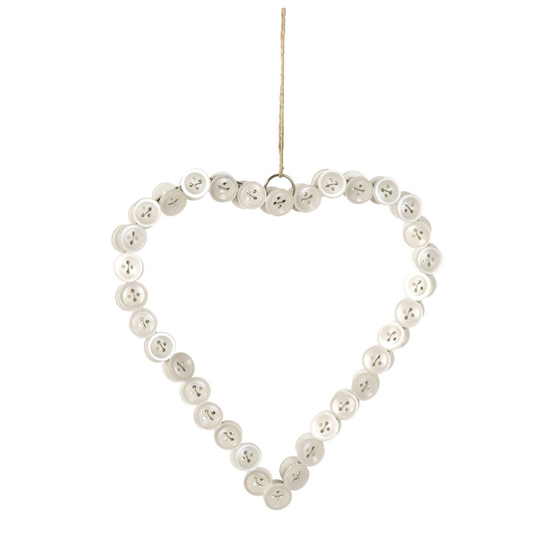 Picture of Parlane Pearly Button Hanging Heart