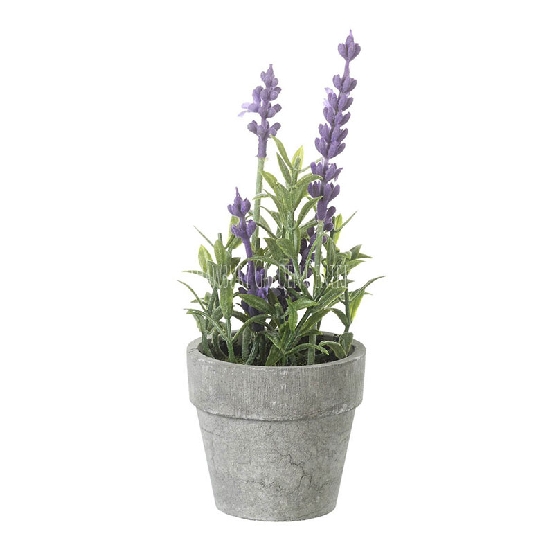 Picture of Parlane Faux Lavender in Grey Pot