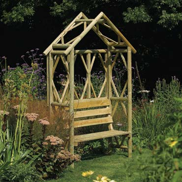 Picture of Rowlinson Rustic Seat Garden Arbour