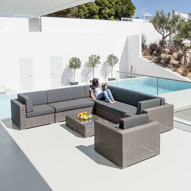 Picture of Alexander Rose Monte Carlo Modular Corner Sofa Garden Furniture Set