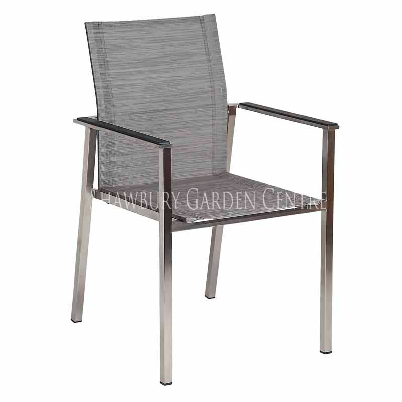 Picture of Alexander Rose Cologne Stacking Armchair with Mixed Grey Sling