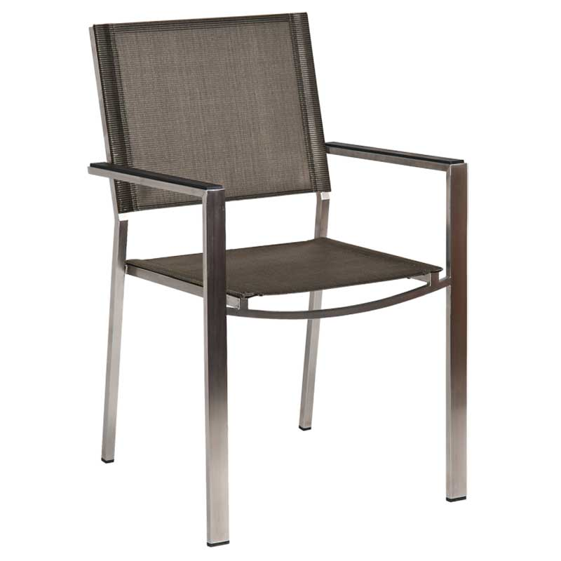 Picture of Alexander Rose Cologne Stacking Sling Armchair: Graphite