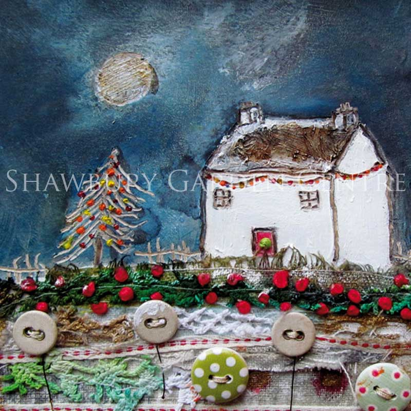 Picture of Green Pebble On The Twelfth Day of Christmas Card by Louise O'Hara