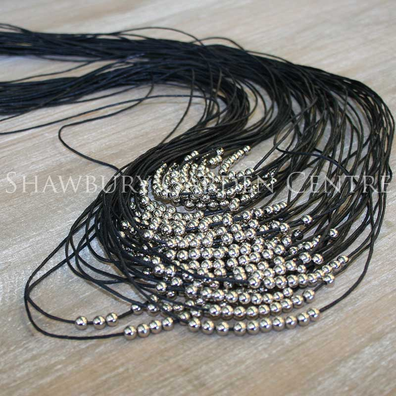 Picture of Capri Clothing Black Multi-strand Necklace with Small Silver Beads