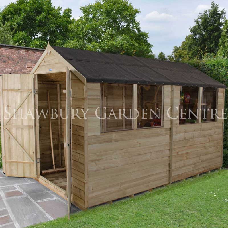 Forest Garden 6 X 10 Pressure Treated Overlap Apex Shed