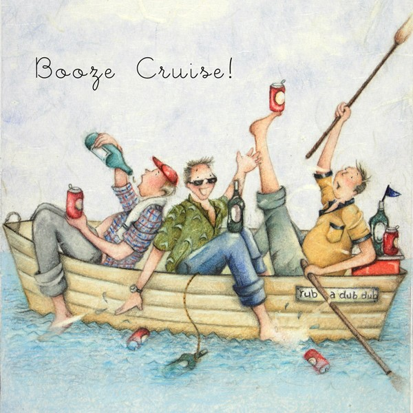 Picture of Berni Parker 'Booze Cruise' Blank Inside Greetings Card