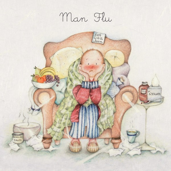 Picture of Berni Parker 'Man Flu' Blank Inside Greetings Card