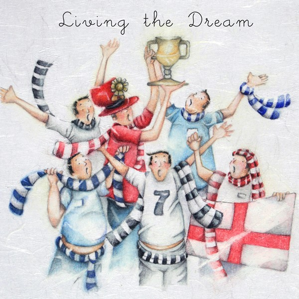 Picture of Berni Parker 'Living the Dream!' Blank Inside Greetings Card