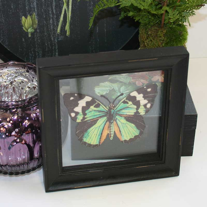 Picture of Gisela Graham Butterfly on Glass Picture