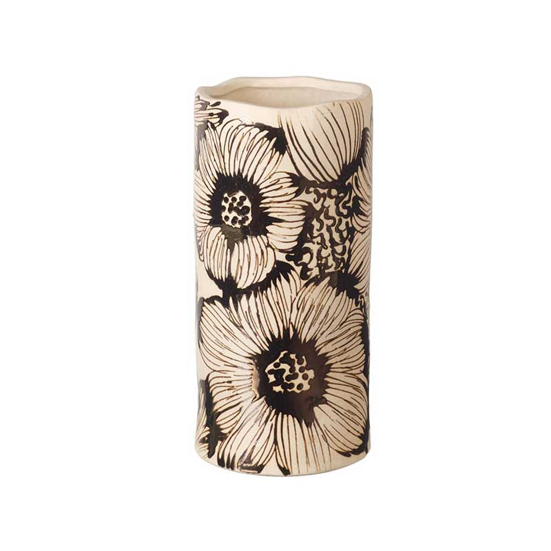 Picture of Parlane Cream & Bronze Floral Ceramic Vase