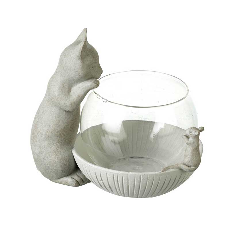 Picture of Parlane Tea Light Holder with Cat & Mouse